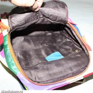 7210-1 Рюкзак лоскутный натуральная кожа