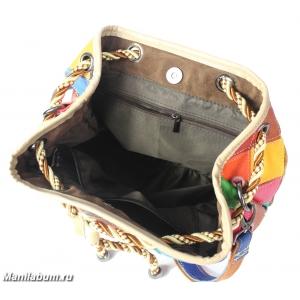 7202-1 Рюкзак лоскутный натуральная кожа
