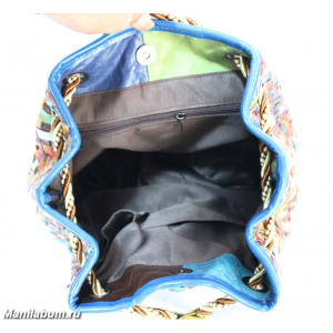 7201-1 Рюкзак лоскутный натуральная кожа