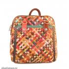 7201-2 Рюкзак лоскутный натуральная кожа
